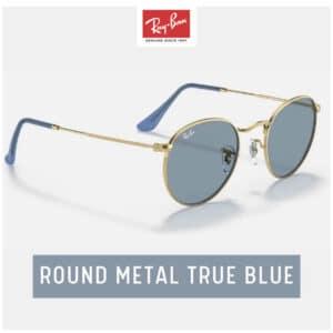 RayBan ROUND METAL True Blue
